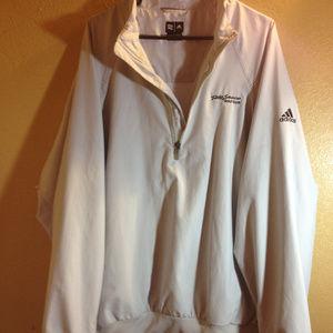 Adidas ClimaShell Windbreaker Jacket XL Tan NWOT